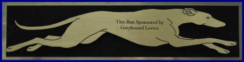 Kennel Run Sponsor Plaque